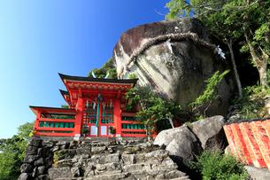 神倉神社とゴトビキ岩の写真素材 [FYI03217335]
