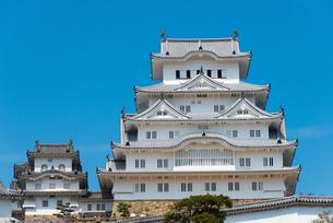 青空の姫路城の写真素材 [FYI03219822]