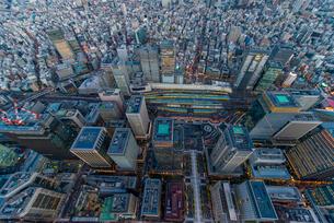 東京駅俯瞰,空撮の写真素材 [FYI03219867]