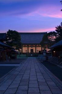 灯籠の灯りに照らされる京都 壬生寺・万灯供養会の写真素材 [FYI03220262]