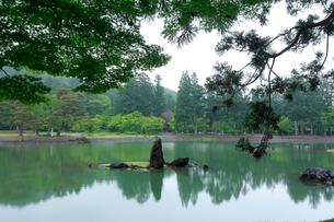 毛越寺 浄土庭園 大泉が池の写真素材 [FYI03220640]