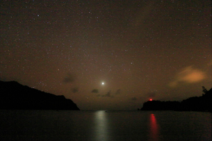金星 星空 小港海岸 父島の写真素材 [FYI03222026]