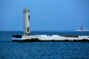冬の網走港の写真素材 [FYI03222251]