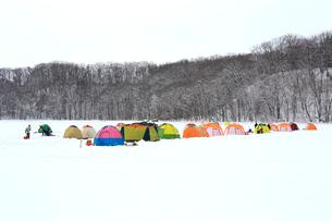 冬の網走湖の写真素材 [FYI03222253]