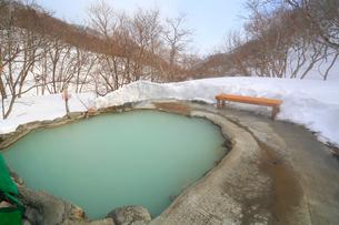 冬の羅臼温泉,の写真素材 [FYI03222375]