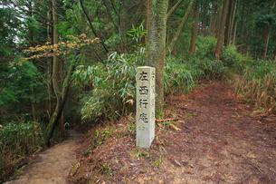 吉野山,奥千本西行庵への道標の写真素材 [FYI03223157]