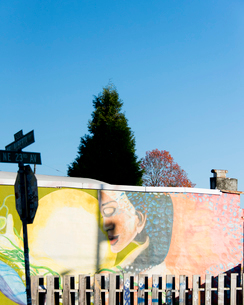 壁画と空の写真素材 [FYI03223548]