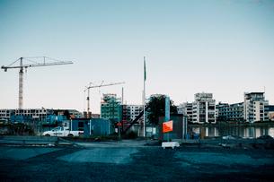 スウェーデンの建設中マンションの写真素材 [FYI03223883]