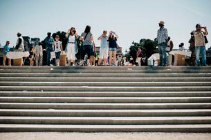 チュイルリー庭園の階段の写真素材 [FYI03223965]