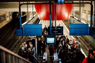 メトロのPorte de Versailles駅の写真素材 [FYI03223991]