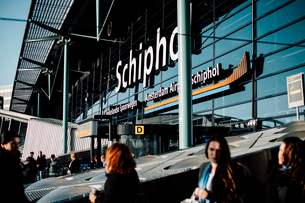 スキポール空港入り口の写真素材 [FYI03223996]