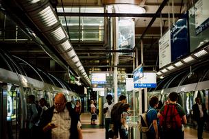 メトロのリヨン駅の写真素材 [FYI03224007]