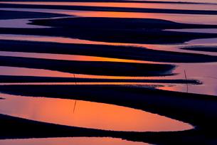真玉海岸の夕焼けの写真素材 [FYI03224075]