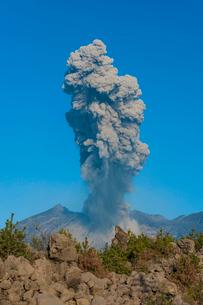 桜島の噴火の写真素材 [FYI03224078]