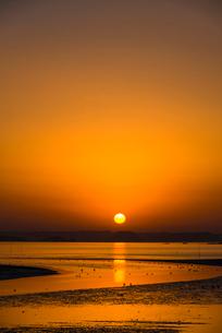 加布里の夕陽の写真素材 [FYI03224093]