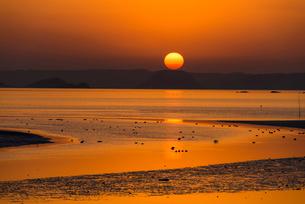 加布里の夕陽の写真素材 [FYI03224101]