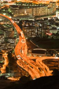 皿倉山から北九州の夜景の写真素材 [FYI03224160]