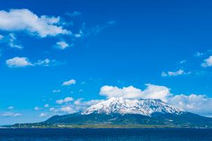 桜島の冠雪の写真素材 [FYI03224187]