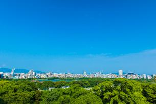 福岡城より福岡市街地を望むの写真素材 [FYI03224189]