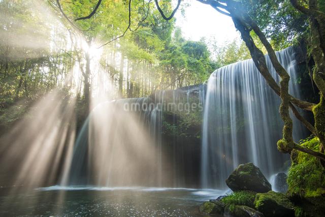 鍋ヶ滝の光芒の写真素材 [FYI03224216]