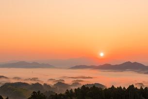 福岡 清水寺の雲海の写真素材 [FYI03224365]