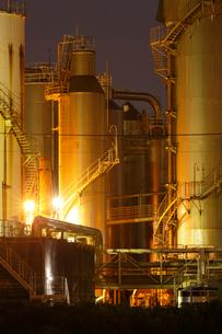 富士工場夜景の写真素材 [FYI03224395]