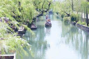 くらしき川舟流しの写真素材 [FYI03224436]