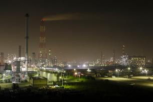 鹿嶋工業地帯の夜景を望むの写真素材 [FYI03224466]