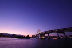 レインボーブリッジ夕景の写真素材 [FYI03224539]