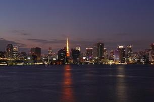 東京港の夜景の写真素材 [FYI03224540]