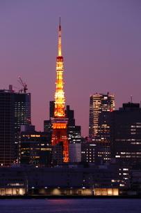 東京タワー夕景の写真素材 [FYI03224546]