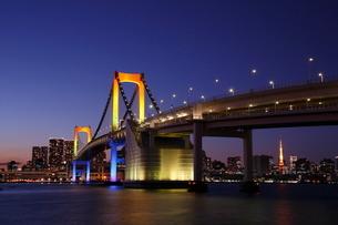 レインボーブリッジ夕景の写真素材 [FYI03224560]