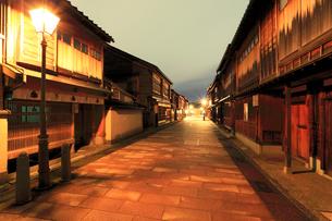 北陸金沢,ひがし茶屋街の写真素材 [FYI03224700]