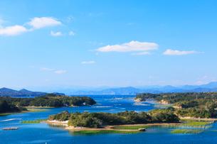 伊勢志摩,登茂山公園桐垣展望台より英虞湾の島々を望むの写真素材 [FYI03224715]