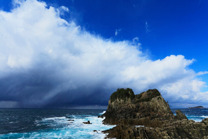 冬の日本海で発達する雲の写真素材 [FYI03224723]