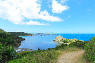 小笠原諸島父島・中山峠より南島方向を望むの写真素材 [FYI03224779]