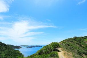 小笠原諸島父島・中山峠から南島を望むの写真素材 [FYI03224780]