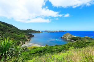 小笠原諸島父島・中山峠より南島方向を望むの写真素材 [FYI03224786]