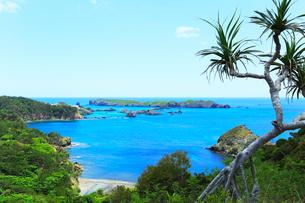 小笠原諸島父島・中山峠から南島を望むの写真素材 [FYI03224807]