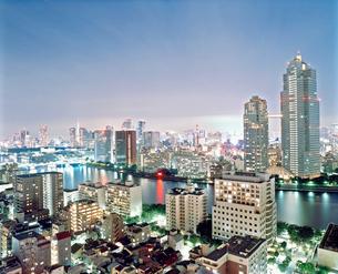 東京の風景 月島からの夜景の写真素材 [FYI03224957]