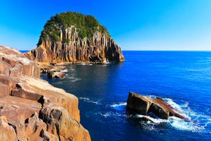 快晴の楯ヶ崎と熊野灘の写真素材 [FYI03224961]