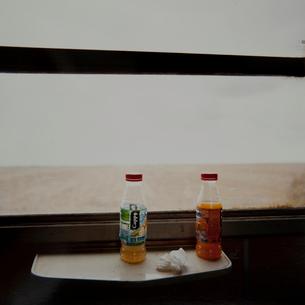 特急列車の車窓の写真素材 [FYI03225277]