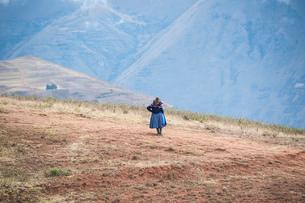 ペルー・ウルバンバ谷の農村の暮らしの写真素材 [FYI03225651]