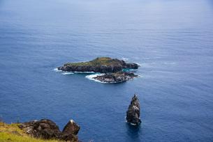 鳥人儀礼のモトゥ・ヌイ島の写真素材 [FYI03225995]