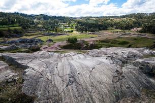 サクサイワマン遺跡:氷河の擦痕の写真素材 [FYI03226057]