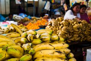 アンデスの市場のバナナの写真素材 [FYI03226224]