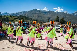 アンデス山脈ケチュア族の祭のカーニバルの写真素材 [FYI03226244]