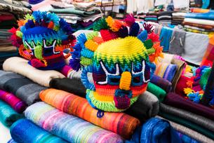 エクアドルの祭事用マスクの写真素材 [FYI03226383]