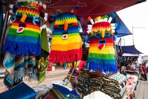 エクアドルの祭事用マスクの写真素材 [FYI03226397]