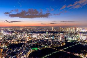 東京都心の夜景の写真素材 [FYI03226602]